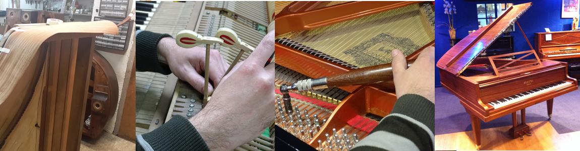 NOUS RESTAURONS ET REPARONS VOTRE PIANO DANS NOTRE ATELIER